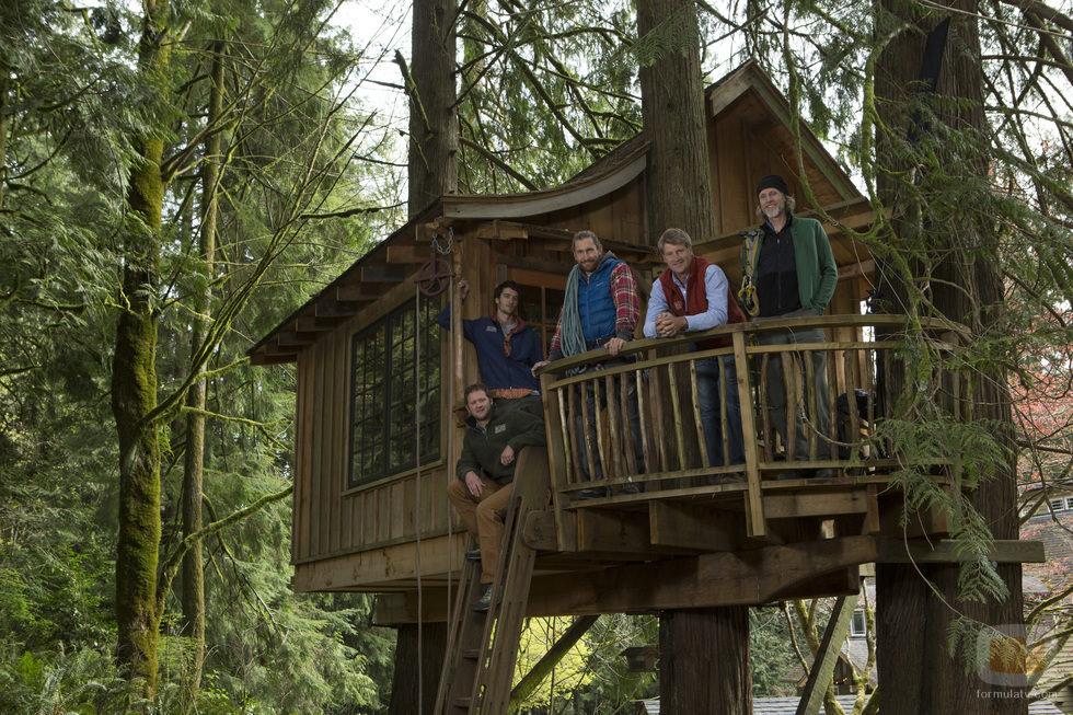 Peter nelson y sus compa eros de 39 mi casa en un rbol - Como construir una casa en un arbol ...