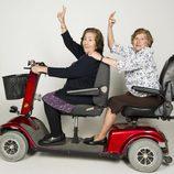 Dos señoras mayores que participan en 'Los mayores gamberros'