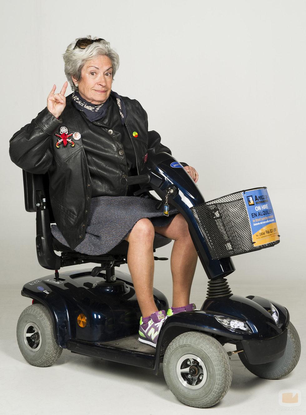 Anciana que participa en 'Los mayores gamberros'