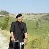 Matteo en bicicleta