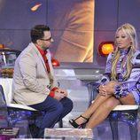Jorge Javier Vázquez charla con Belén Esteban en 'Sálvame Deluxe'