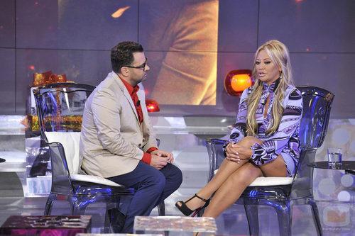 Jorge Javier Vázquez charla con Belén Esteban en Sálvame Deluxe