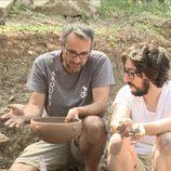 Flipy en su aparición en 'Arqueólogo por un día'