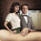Lizzy Caplan y Michael Sheen en 'Masters of Sex'
