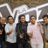Juan Magán, Cali & El Dandee, Carlos Vives y Coti en 'La voz 2'