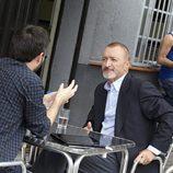 Jordi Évole entrevistando al escritor Arturo Pérez-Reverte