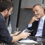 Jordi Évole entrevistando a Pérez-Reverte
