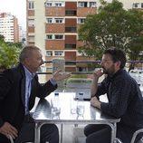 El escritor Arturo Pérez-Reverte es entrevistado por Jordi Évole