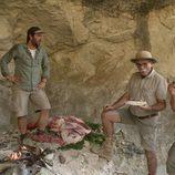 Iñigo Urrechu y el equipo del yacimiento de la Gran Dolina
