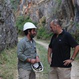 Iñigo Urrechu durante su participación en 'Arqueólogo por un día'