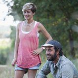 María Vasco con Roger Sala en 'Arqueólogo por un día'