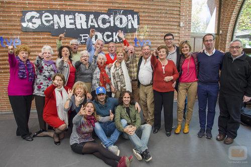 Equipo de 'Generación rock' con Melendi