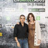 Manuel Marlasca y Mamen Mendizábal en la exposición