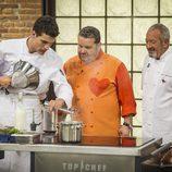 Miguel Cobo con Alberto Chicote y Karlos Arguiñano