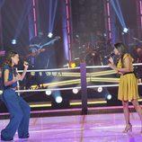Rocío Rivas y Ainhoa Aguilar en el ring de 'La Voz'