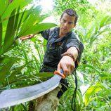 El aventurero Bear Grylls en la selva durante 'Escapar del infierno'