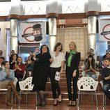 Charo Reina, Sandra Barneda y Carmen Lomana en 'De buena ley'
