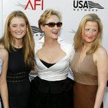Meryl Streep con sus hijas Grace y Mamie Gummer