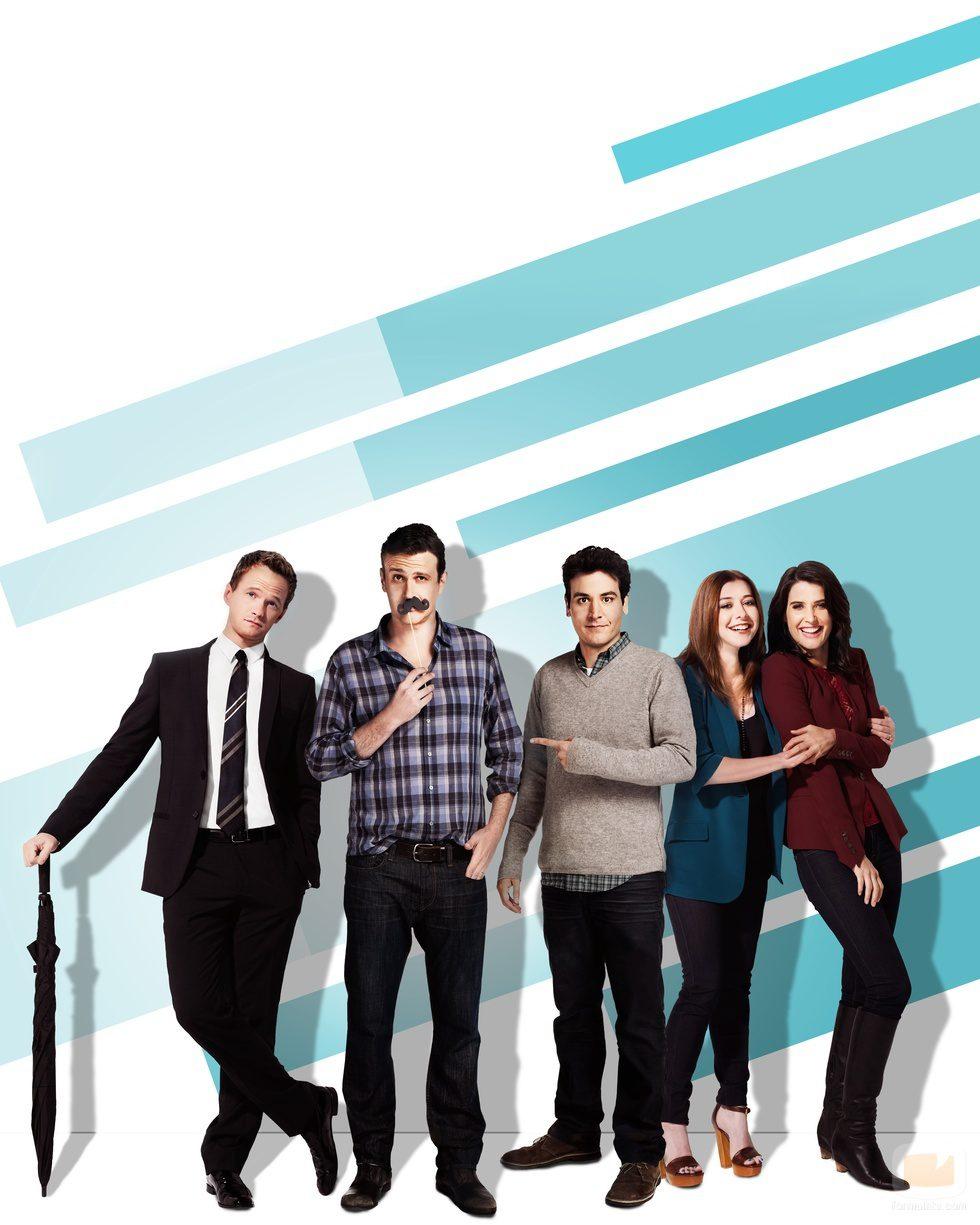 El elenco principal de la novena temporada de 'Cómo conocí a vuestra madre'