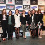 Maxi Iglesias, Marta Hazas, Manuela Vellés y Manuela Velasco en el preestreno de 'Galerías Velvet' en Noia