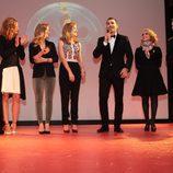 Los actores de 'Galerías Velvet' presentan la serie en la Mostra de Curtas de Noia