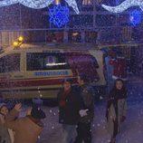 Escena de nieve en 'Vive cantando'