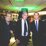 Miguel Ángel Rodríguez, Silvio González y Raúl Berdonés en la fiesta del 5º aniversario del Grupo Secuoya