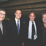 Silvio González y Miguel Ángel Rodríguez en la fiesta del 5º aniversario del Grupo Secuoya