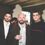 Mariano Baselga, Miguel Albaladejo y Andrés Arenas en la fiesta del 5º aniversario del Grupo Secuoya