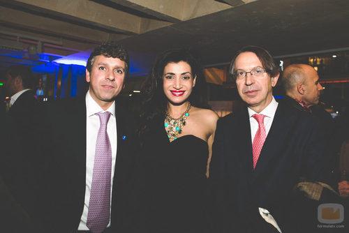 Santiago González y José Antonio Vera en la fiesta del 5º aniversario del Grupo Secuoya