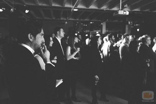 Raúl Berdonés en la fiesta del 5º aniversario del Grupo Secuoya