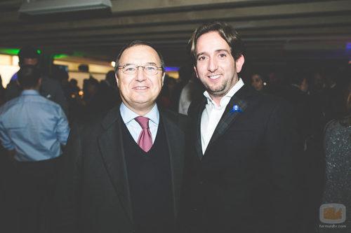 Maurizio Carlotti con Raúl Berdonés en la fiesta del 5º aniversario del Grupo Secuoya