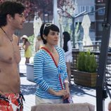 Pablo Martín, Anabel Alonso y Esther Arroyo en 'La familia Mata'