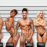 Torito con Belén, Raúl, Tatiana, Erik, Lydia, Verónica y Labrador desnudos en Primera Línea