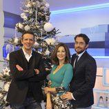 Ana Rosa Quintana junto a Joaquín Prat y Máxim Huerta por Navidad