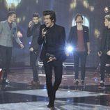 One Direction cantando en la final de la segunda edición de 'La voz'