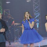David Barrull, Leire Martínez y Dina Arriaza en 'La voz'