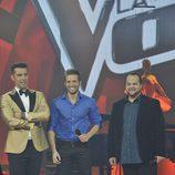 Jesús Vázquez, Pablo Alborán y David Barrull en 'La voz'