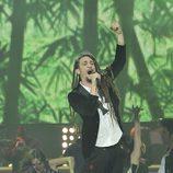 Jaume Mas cantando en la final de la segunda edición de 'La voz'