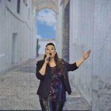 Estela Amaya en la final de la segunda edición de 'La voz'