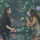 Estela Amaya y Rosario Flores en la final de la segunda edición de 'La voz'