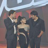 David Bisbal, Dina Arriaza y Luis Fonsi en 'La voz'