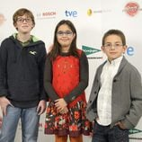 Juan, Esther y Aimar, concursantes de 'MasterChef Junior'