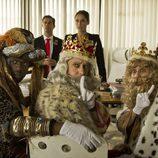 Míriam Iscla, Pere Ponce y Djedje Apali en 'Un cuento de Navidad'