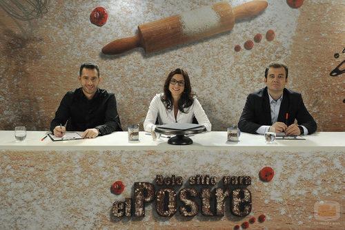 David Pallàs, Amanda Laporte y Sergi Vela, el jurado de 'Deja sitio para el postre'