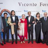 El elenco de la TV movie 'Vicente Ferrer' junto a Anna Ferrer