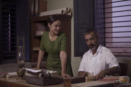 Aída Folch e Imanol Arias en la TV movie 'Vicente Ferrer'
