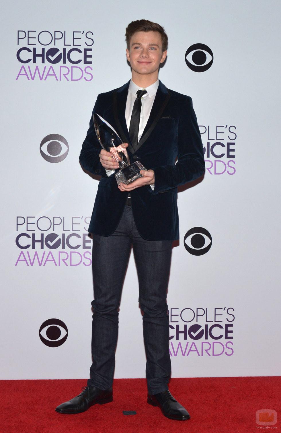 Chris Colfer en los People's Choice Awards 2014