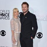 Anna Faris y Chris Pratt en los People's Choice Awards 2014
