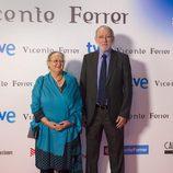 Anna Ferrer y Jordi Folgado Ferrer en la presentación de la TV Movie 'Vicente Ferrer'